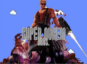 Super nukem bros - title screen