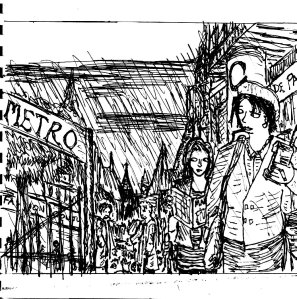 """""""90s Noir Awesomeness (Line Art)"""" By C. A. Brown"""