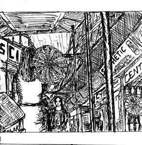 """Centre Four (Line Art)"" By C. A. Brown"