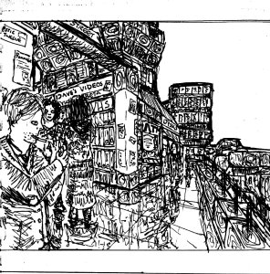 """""""City Of Towers (Line Art)"""" By C. A. Brown"""