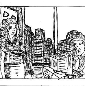 """Random 1980s Office (Line Art)"" By C. A. Brown"