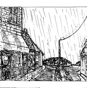 """""""Village (Line Art)"""" By C. A. Brown"""