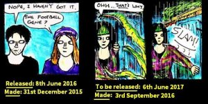 Here's a comparison of the changes between selected comic panels within 8-12 months. The release dates are the for this site, rather than DeviantART.