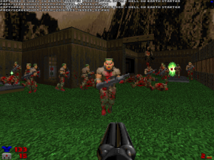 "Like this ""graveyard"" in level two that spawns lots of zombies when you find the key at the end of it."