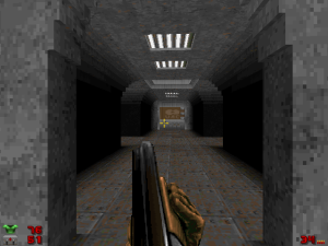 I don't know if this is a new texture or not, but the lighting in this part of level four is AMAZING!