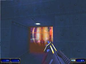 Seriously, in one of the game's two endings, the FINAL BOSS is a huge robot. And it can be defeated by just standing on the other side of this tiny door and shooting at it slowly for a couple of minutes.