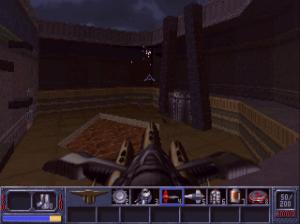 "Fun fact: This game came out the same year that ""Quake"" did. Although, interestingly, the location design is slightly more reminiscent of ""Quake II""."