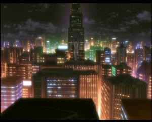 "This is a screenshot from ""Ghost In The Shell: S.A.C 2nd Gig"" (2004/5). As you can see, the cityscape looks a lot more like the one in the screenshot above than..."
