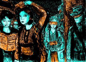 """A Cyberpunk Crowd"" By C. A. Brown"