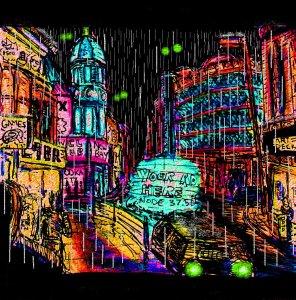 """""""Aberystwyth - High Street Cyberpunk"""" By C. A. Brown"""