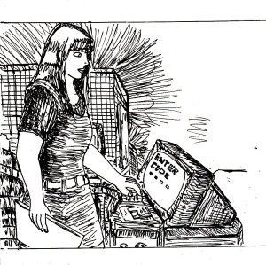 """""""Data Station (Line Art)"""" By C. A. Brown"""