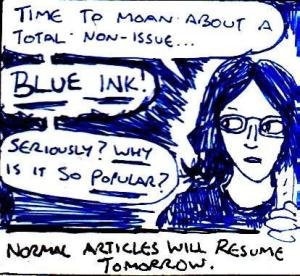 2017 Artwork Blue Ink Moan article sketch