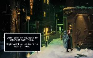 """This is a screenshot from """"The Blackwell Epiphany"""" (2015). This is an example of a modern game with unrealistic 2D pixel art. As you can see, it looks a lot more unique and distinctive than """"realistic"""" 3D graphics do."""