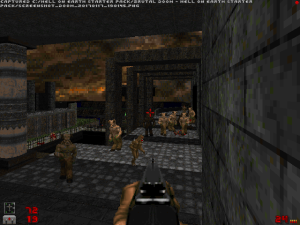 "This is one of the easier parts of level five. Then again, if you're still playing ""Doom II"" in 2017, then you've probably had at least a few years of practice anyway.."