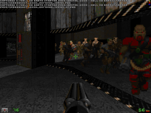 But, don't worry, you'll encounter the occasional giant horde of monsters in earlier levels, like this one.