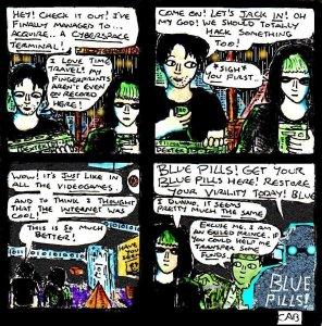 """Damania Retrofuturistic - Cyberspace"" By C. A. Brown"
