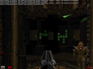 "The beginning of the level is more like a traditional ""Doom II"" level in some ways."
