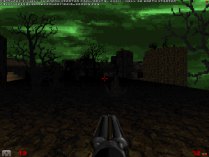 Fun fact, this isn't an essential part of the level. It's a ledge that you can jump onto that will allow you to reach two monster-filled areas that aren't hugely relevant to the level.