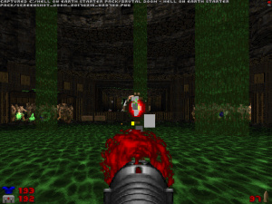After a lot of searching, I found this place. And, after several attempts, I managed to escape from this monster-filled pit and... ended up near the beginning of the level. Well, THAT was a waste of time!
