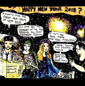 "[CLICK FOR LARGER IMAGE] ""Happy New Year 2018"" By C. A. Brown"