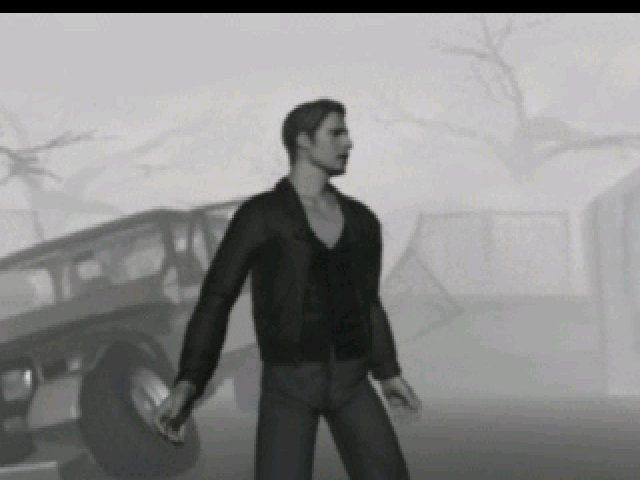 Silent Hill (1999) - Harry gets out of the car