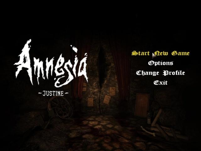 Amnesia Justine (2011) - Main Menu